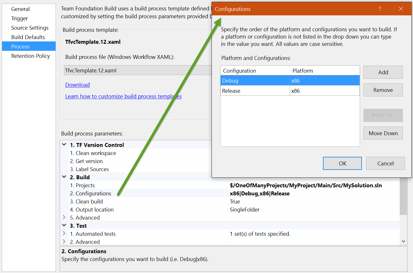 Building multiple configurations and/or platforms in Build 2015