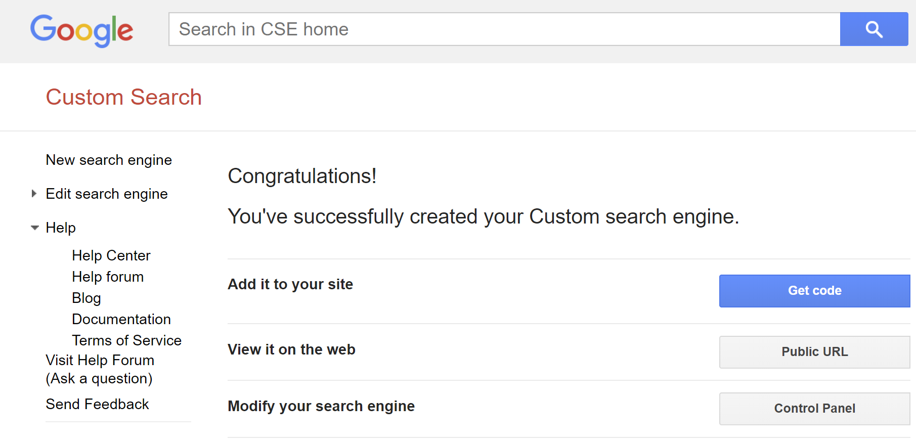 Adding Google Custom Search to Casper