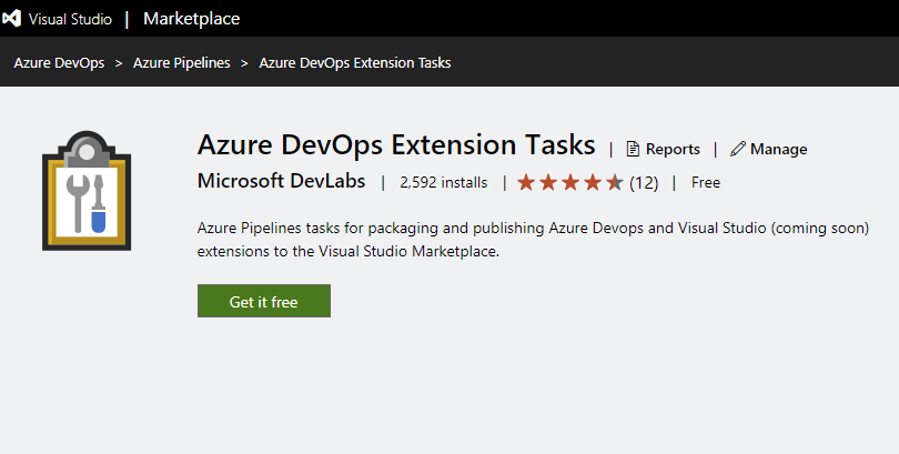 Azure DevOps Extension Tasks 1.2.3x